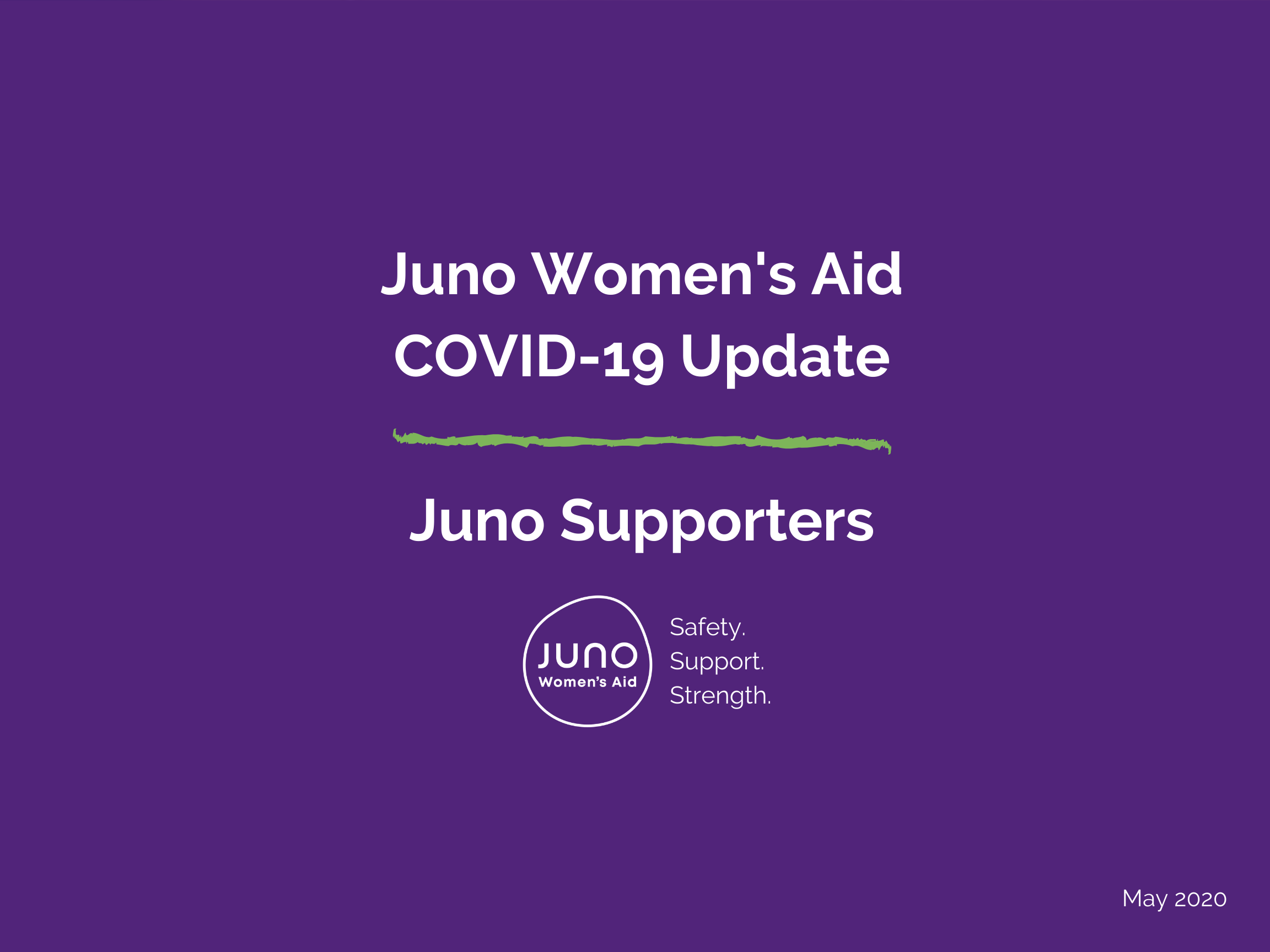 Juno Women's Aid COVID-19 Update SUPPORTERS